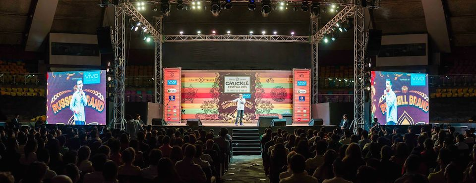 Opening for Russell Brand in Delhi.